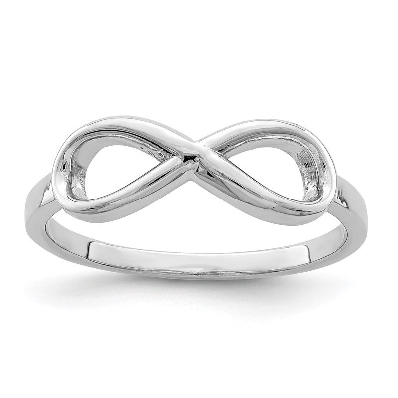 Quality Gold Sterling Silver Rhodium-plated Infinity Ring