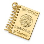 Quality Gold 14k 3D Passport Opens Charm