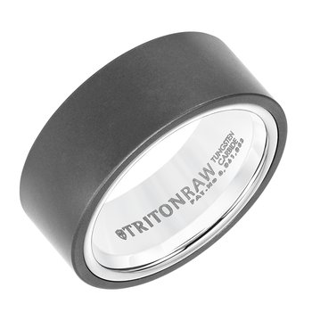 RAW SHINE - 9mm Matte Finish & High Shine White Nano-Tech Coating Inside Men's Wedding Band