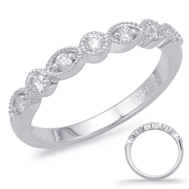 MAZZARESE Bridal White Gold Stackable Band