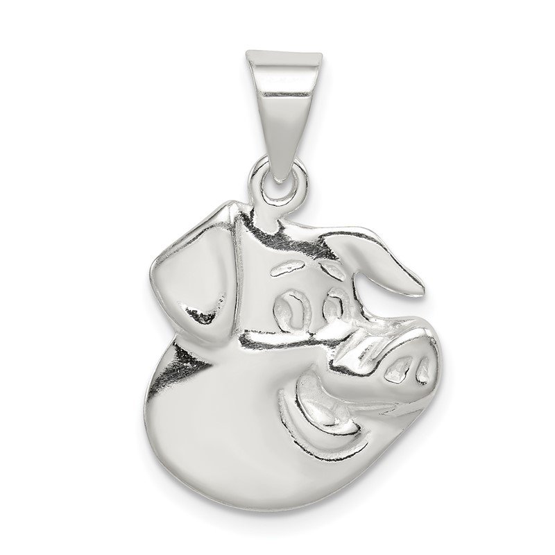 Quality Gold Sterling Silver Pig Charm