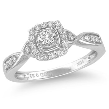 10K 0.33Ct Diamond Ring
