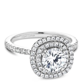 Noam Carver Modern Engagement Ring B142-08A