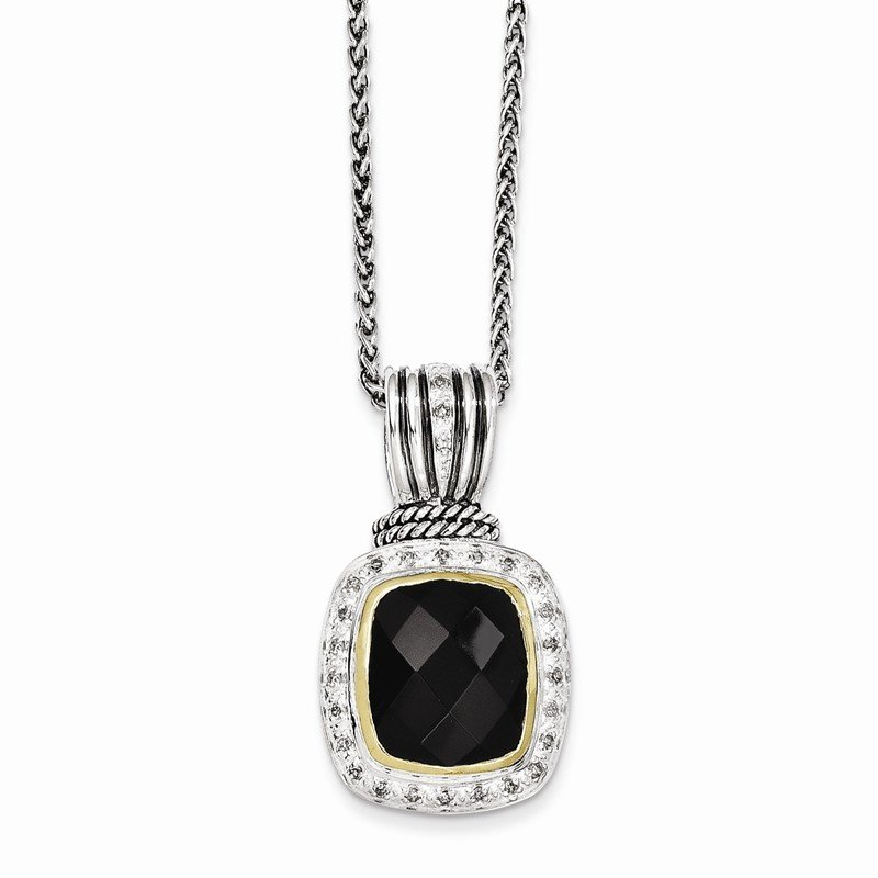 Shey Couture Sterling Silver w/14k Black Onyx & 1/5ct. Diamond 18in Necklace