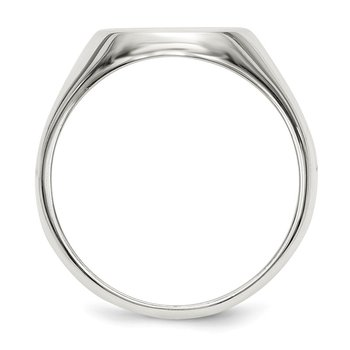 Sterling Silver 15x12mm Closed Back Signet Ring