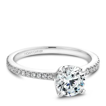 Noam Carver Modern Engagement Ring B027-02A