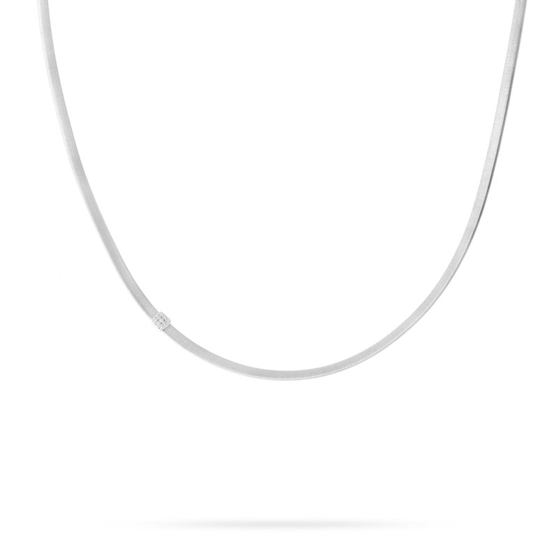 Marco Bicego Masai Single Station Diamond Necklace in White Gold