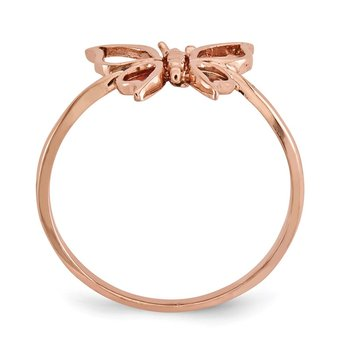 14k Rose Gold Polished Butterfly Ring
