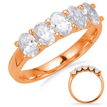 Rose Gold Oval Diamond Band