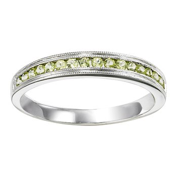 10K Peridot Mixable Ring