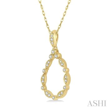 diamond drop shape pendant