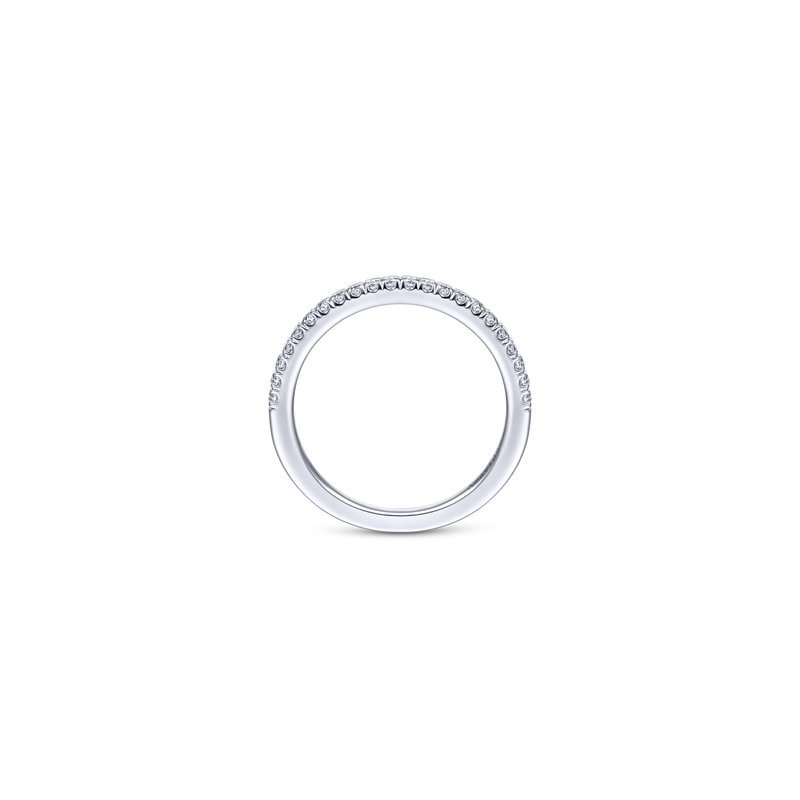 Amavida 18K White Gold Matching Wedding Band
