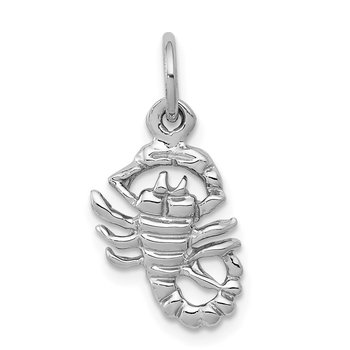 10k White Gold Scorpion Charm