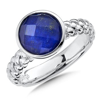 Sterling Silver Lapis Fusion Stacking Ring
