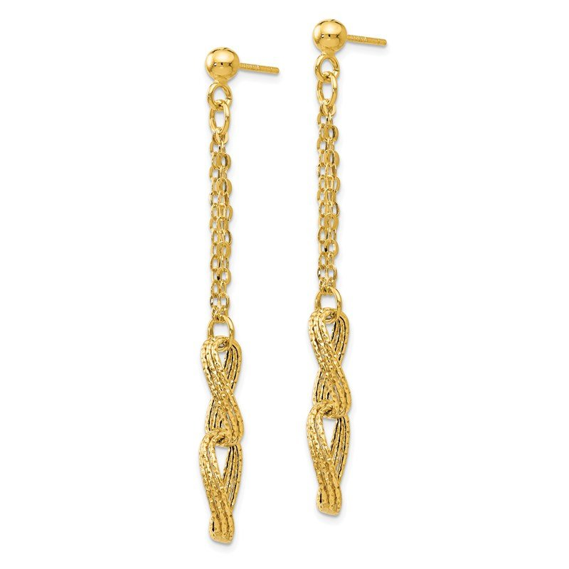 Leslie's Leslie's 14K Polished and Textured Post Dangle Earrings