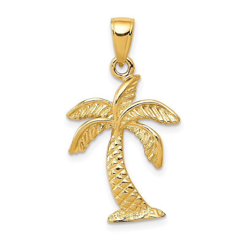 Quality Gold 14k Palm Tree Pendant