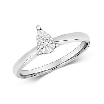 Diamond Illusion Solitaire Pear