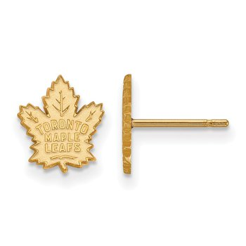 Gold-Plated Sterling Silver Toronto Maple Leafs NHL Earrings