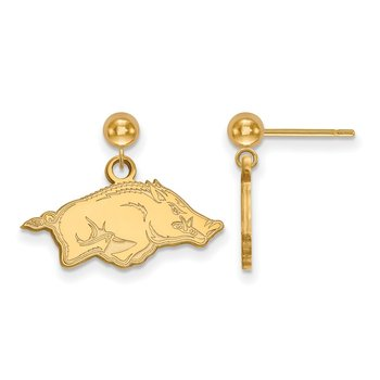 Gold-Plated Sterling Silver University of Arkansas NCAA Earrings