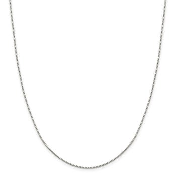 Sterling Silver 1.15mm 8 Sided Diamond-cut Box Chain