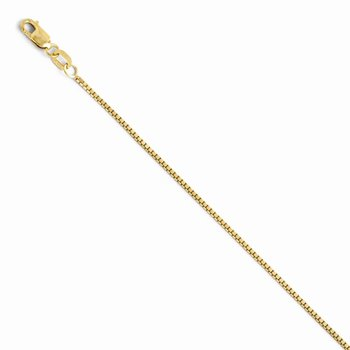 Leslie's 14K 1 mm Polished Box w/Lobster Chain