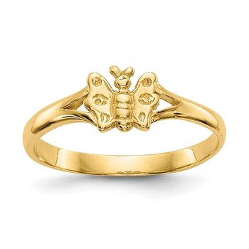 14K Butterfly Baby Ring
