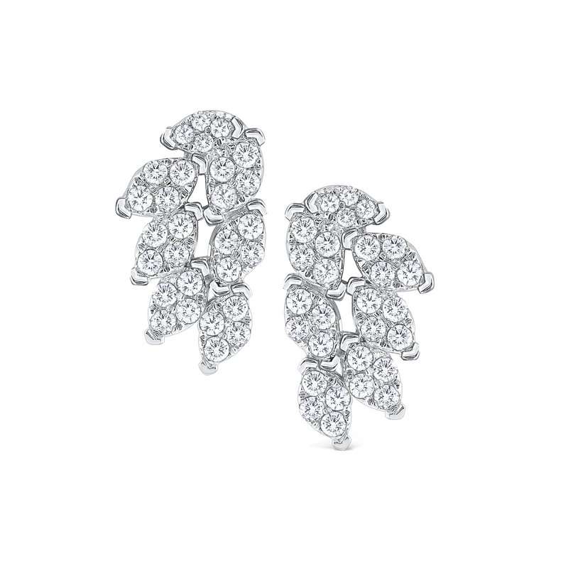 KC Designs Diamond Fan Earrings Set in 14 Kt. Gold