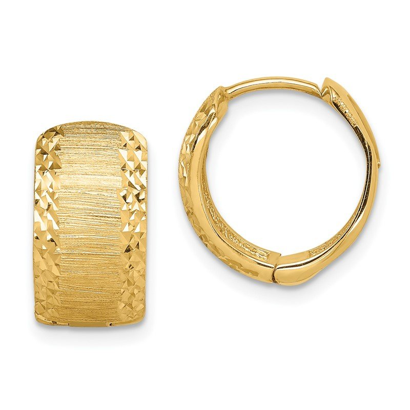 Quality Gold 14K D/C and Textured Hoop Earrings