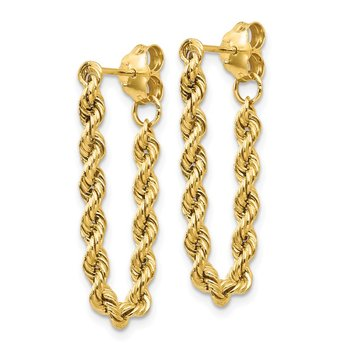 14K Hollow Rope Earrings