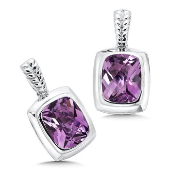 Sterling Silver Amethyst Essentials Post Earrings