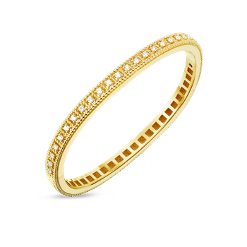 #27675 Of 18Kt Gold Bangle With Diamonds