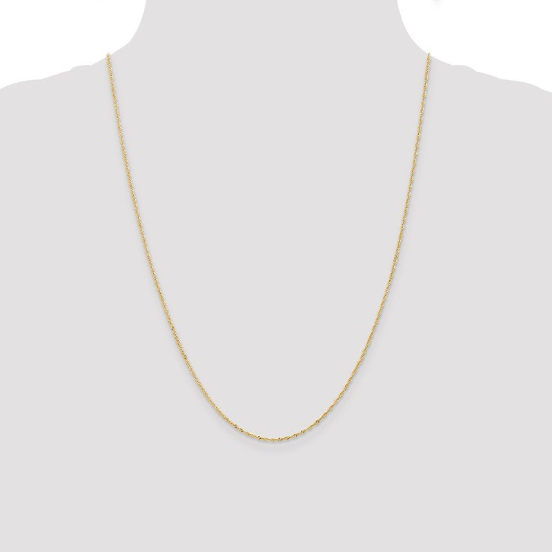 Leslie's Leslie's 14K 1 mm Light Singapore Chain