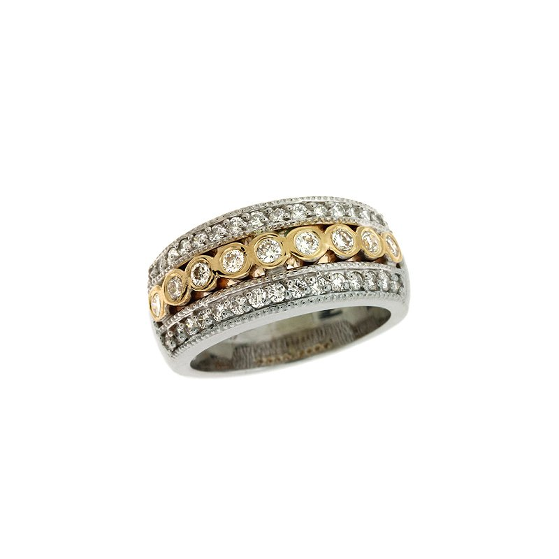 S. Kashi  & Sons Two Tone Diamond Ring