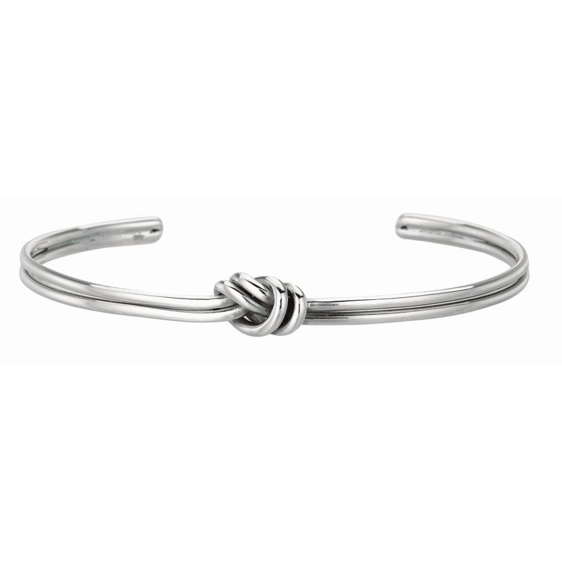 Royal Chain Silver Loveknot Cuff
