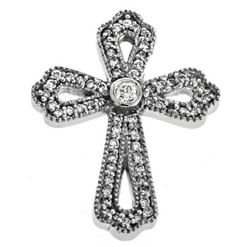 Diamond Cross White Gold