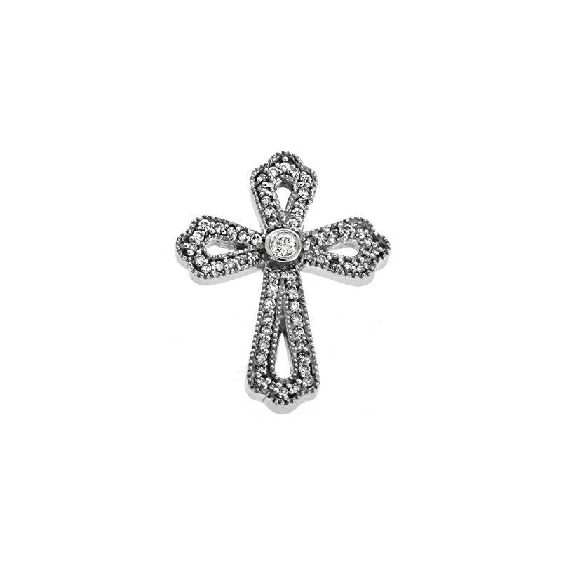 Briana Diamond Cross White Gold