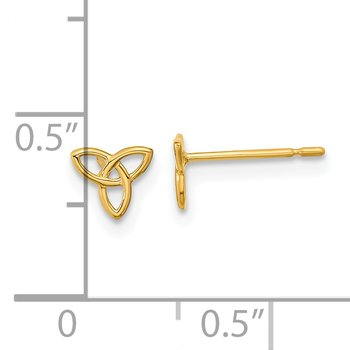 14k Madi K Kids Celtic Knot Post Earrings