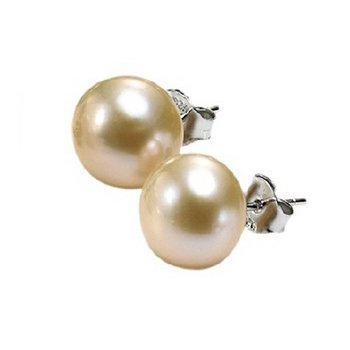 Silver Fresh Water Pink Pearl Studs 7 mm
