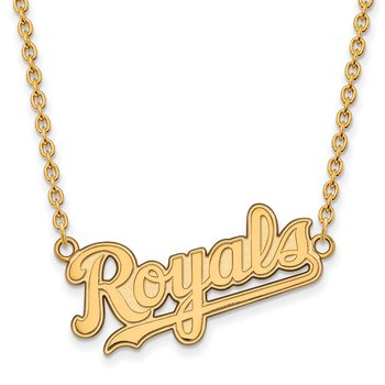 Gold-Plated Sterling Silver Kansas City Royals MLB Necklace