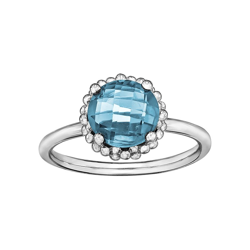 Lasting Treasures™ Blue Topaz Ladies Ring
