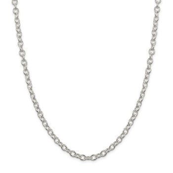 Sterling Silver 5.75mm Oval Cable Chain
