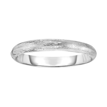 Silver Floral Pattern 9mm Bangle