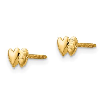 14k Madi K Double Heart Earrings
