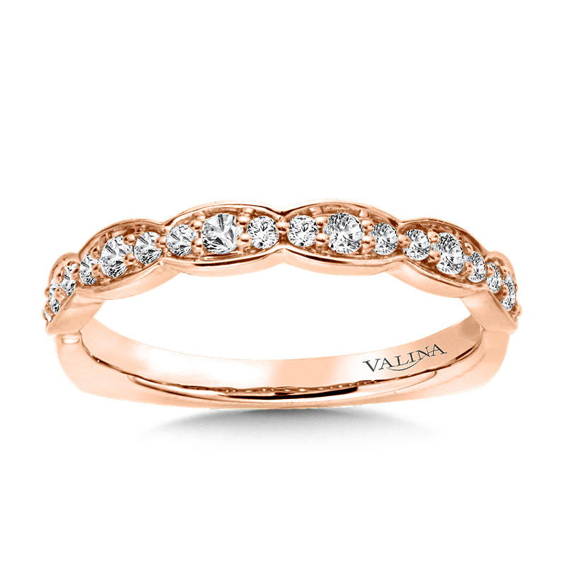 Valina Bridals Stackable Wedding Band in 14K Rose Gold (.23 ct. tw.)