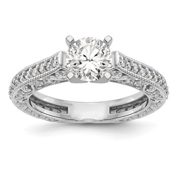 14kw True Origin Lab Grown Dia VS/SI D,E,F Peg Set Engagement Ring