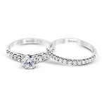 Simon G MR2128-D WEDDING SET