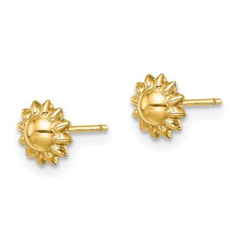 14k Madi K Sunflower Post Earrings