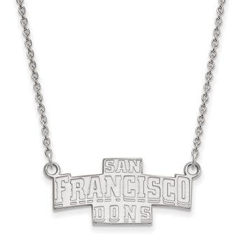 Gold University of San Francisco NCAA Necklace