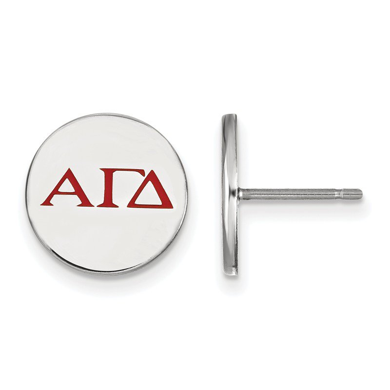 Greek Life Sterling Silver Alpha Gamma Delta Greek Life Earrings