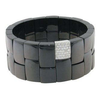 Domino Black Ceramic Bracelet